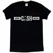 Johnny Cash Museum Black Tee- CASH