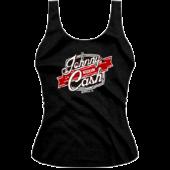 Johnny Cash Museum Ladies Logo Black Tank Top