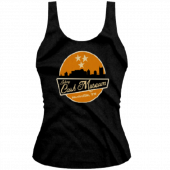 Johnny Cash Museum Ladies Skyline Black Tank Top