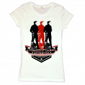 Johnny Cash Museum Ladies White Tee- 3 Images