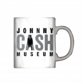 "Johnny Cash Museum White Coffee Mug- Johnny in the ""A"""
