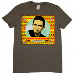 Johnny Cash Museum Unisex Charcoal Photo Tee