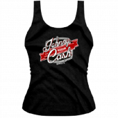Johnny Cash Museum Ladies Logo Black Tank Top