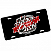 Johnny Cash Museum Logo License Plate