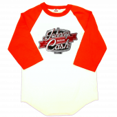 Johnny Cash Museum White and Red Baseball Tee