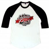 Johnny Cash Museum White and Black Baseball Tee
