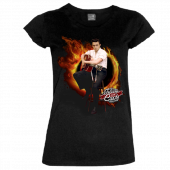 "Johnny Cash Museum Ladies Scoop Neck ""Ring of Fire"" Tee"