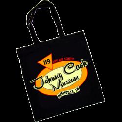 Johnny Cash Museum Black Tote Bag