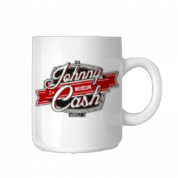 Johnny Cash Museum White Logo Coffee Mug